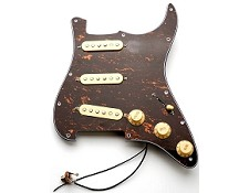ALNICO Pre-Wired Pickguard- Cream on Tortoiseshell- MAJOR UPGRADE