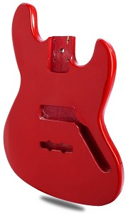 Jazz Bass Lightweight Body Gloss Rocket Red Finish