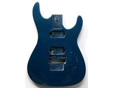 """Dinky"" style HH body cut for Floyd Rose Trem. Solid Poplar Blue Metalflake"