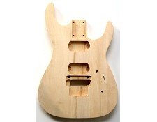 """Dinky"" style HH body cut for Floyd Rose Trem. Solid Poplar No Finish."