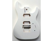 """Dinky"" style HH body cut for Floyd Rose Solid PoplarArctic White Gloss."