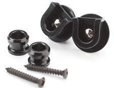 All New- BLACK Schaller Style locking Strap Button System