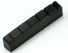 Gibson Style Nut- Black Lo-Friction Polycarbonate Pre-slotted 42mm