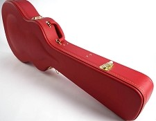 PREMIUM RED Hardshell Case fits Les Paul PLUSH Interior- OUR BEST!