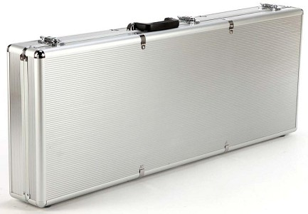 "Aluminum ""Flight Case"" style Case fits Les Paul,  XV-500, XV-700"