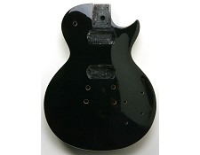 LP Style Carved Top Body- BOLT-ON. Gloss Black.