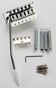 OEM Quality Complete Strat style tremolo chrome.