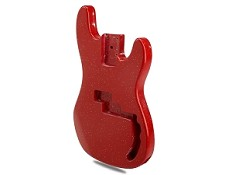"PRIC SLASHED! ""Dano-Flake"" Red P Bass Lightweight Body"