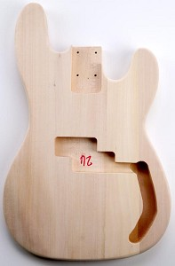 Solid Poplar P Bass Style Body No FInish