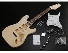 High Quality Solid Poplar Body Strat Style Kit Maple OR Rosewood