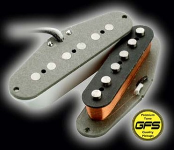 "KP - 60's-70's Grey Bottom Non Stagger ""Texas"" Strat - Surf/Blues Power!! - Kwikplug™ Ready"