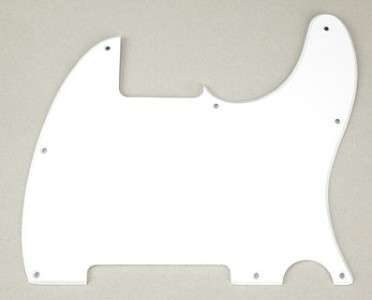 8 Hole Esquire Pickguard- Classic Single Ply White