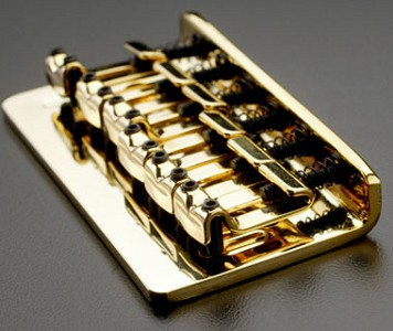 Gold Hardtail Bridge for Teles and Strats