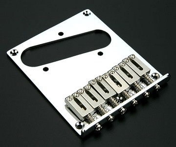 """Modern Style"" Tele Upgrade bridge Stainless Steel Saddles chrome"