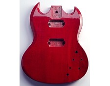 SG Style Mahogany Body Bolt-On pocket Trans Cherry - Blem