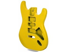 """Dano Flake"" Lightweight Stratocaster Style Body HSH Yellow Sparkle - Blem"