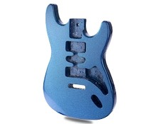 METALFLAKE Lightweight Stratocaster Style Body HSH Blue Sparkle  - Blem