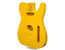 """Dano-Flake"" Lightweight Telecaster Style Body Yellow Sparkle - Blem"
