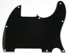 8 Hole Esquire Pickguard- 3 Ply Black