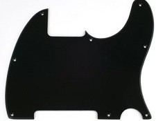 8 Hole Esquire Pickguard- Classic Single Ply Black