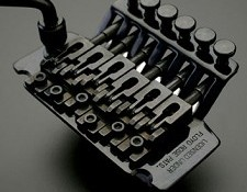 "Black Floyd Rose ""Fastloader"" Locking Tremolo System"
