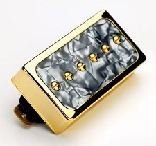 Dream 90 Humbucker Sized P90 Black Pearl/Gold Bridge Position