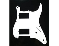 Fat Strat- 2 humbucker Pickguard 3-ply White
