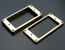 Pair GOLD Arched Bottom Humbucker Rings