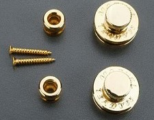 Pair of Gold Strap Locks- Straplok style HEAVY DUTY