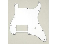 Single Humbucker Strat Pickguard- 3 Ply White