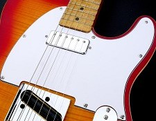Tele Pickguard cut for Neck Mini Humbucker White 3 Ply