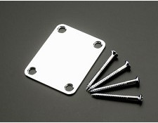 Ultra Thick Chrome Neck Plate with Screws for Strat/Tele