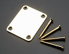Ultra Thick Gold Neck Plate with Screws for Strat/Tele