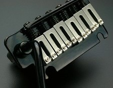 USA Strat- 2 Point Hardened Steel BLACK tremolo system