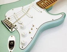 White 3-Ply Superstrat Pickguard/Parts Wiring Kit