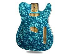 Ocean Turquoise Mother of Pearl Celluloid Top Lightweight Tele Bound - Blem