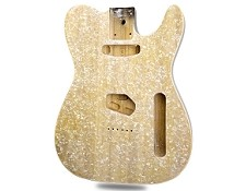 Champagne Mother of Pearl Celluloid Top Lightweight Tele Bound - Blem