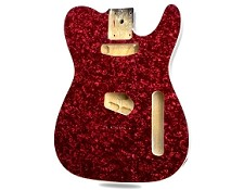 RED Mother of Pearl Celluloid Top Lightweight Tele Bound - Blem
