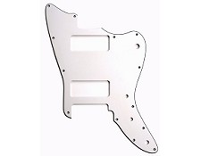 XGP 3 Ply Hand Aged White Offset Strat Trem Pickguard- 2 P90