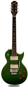 NEW! XV555 Double Locking Tremolo Carved Top LP Transparent Green