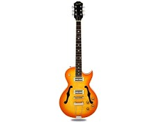 NEW! XV-570 Rockabilly Semi-Hollowbody Minitrons FLamed Maple Lemon Drop
