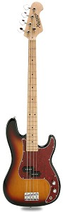 PB Bass Alder Body Maple Neck Sunburst Maple Fingerboard