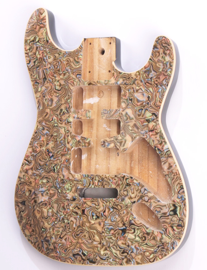 pearl mother strat binding rout cream celluloid