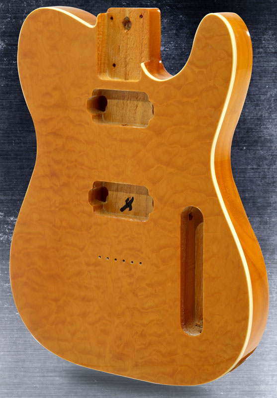 Telecaster 174 Style Body Quilt Maple Top With Binding