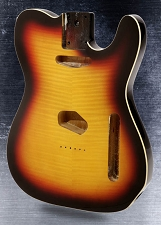 Telecaster Style body Flamed maple top with binding Vintage Burst