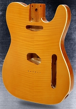 Single-Cutaway body Flamed maple top with binding Vintage Natural
