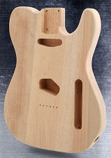 Unfinished Solid Mahogany Body Single-Cutaway Style