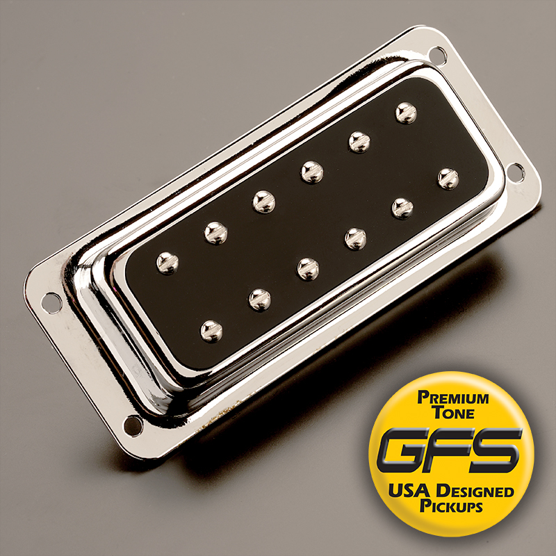 GFS NYIII Alnico 3 Surface Mount Humbucker Black