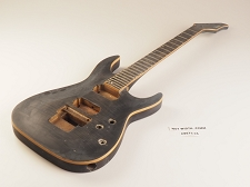 Black Flame Top Dinky Style Guitar Single Bound Rosewood Fret Board 2 Humbucker 24 Fret Floyd® Trem System As Is Guitar