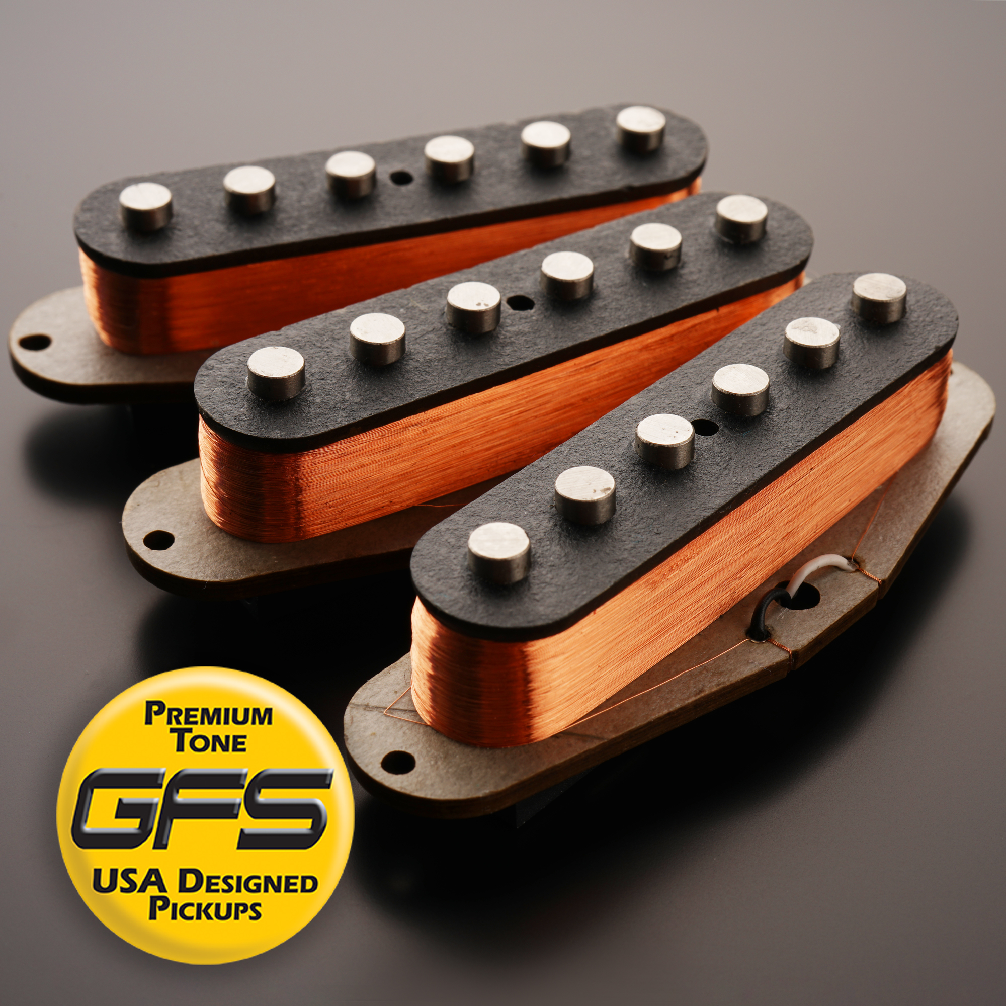 60's-70's Grey Bottom Non Stagger, Fits Strat® - More Power